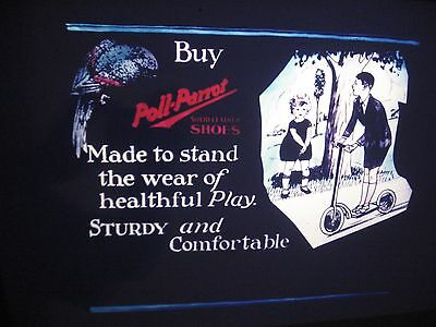 1920's Blackhawk Films Poll-Parrot Shoes Advertising Slide