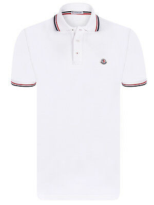 Brand New Mens Moncler Polo T- Shirt White Color Size L