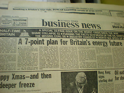 old newspaper - Sunday Times special on energy crisis in 1973