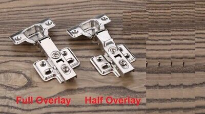 35Mm Soft Close Hinges Kitchen Cabinet Cupboard Wardrobe Full Half Overlay Inset
