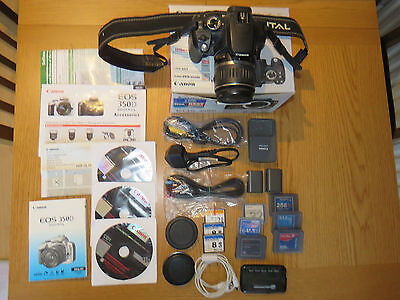 Canon EOS 350D/Rebel Digital SLR Camera with 18-55mm Lens & Accessories - Boxed