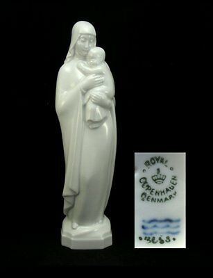 Royal Copenhagen White Porcelain Figure Woman with Child (Virgin Mary?)