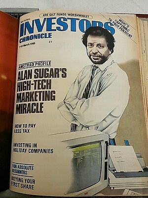 1986 Investors chronicle collection of 15 issues 3rd January to 3rd April