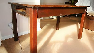 Antique Country Oak Farmhouse Kitchen Dining Table
