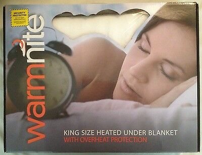 Warmnite WN49003 King-size Electric Heated Underblanket With Overheat Protection