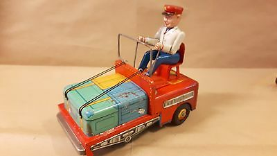 TM MASUDAYA TIN BUSY BUSY PORTER BATTERY OP. MADE IN JAPAN VINTAGE '60s