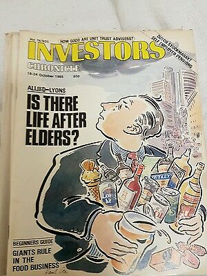 Investors chronicle collection of 9 issues from 4th October 1985 to 28th Novembe