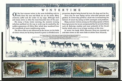 Mint G.B.Stamps Wintertime January 1992