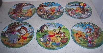 """6 Bradford Exchange """"winnie The Pooh, A Honey Of A Friend"""" Collectors Plates"""