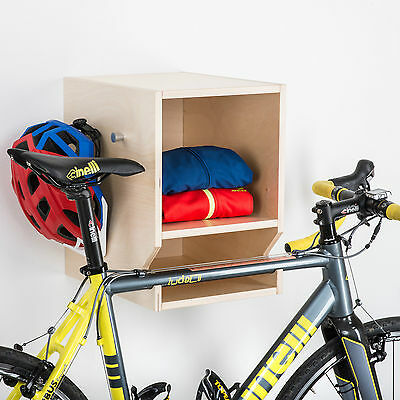 Wooden Bike Shelf  L - Bicycle Cycling Storage Wall Mount Hook Rack Hanger Stand
