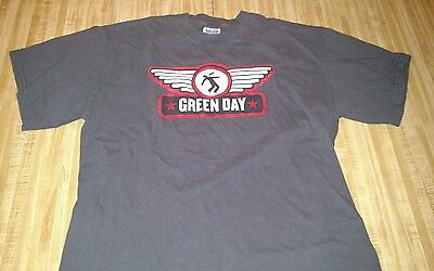 Green Day Gray T-Shirt Size Large