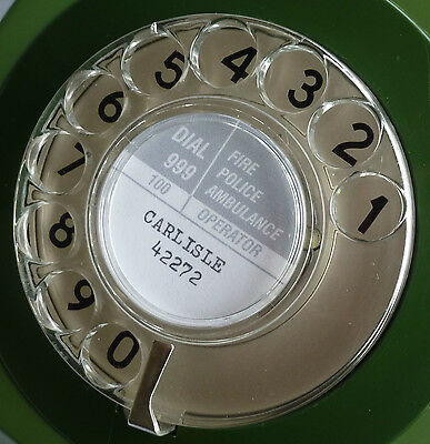 Personalised GPO Dial Telephone Number Label (Classic Retro Vintage Phone)
