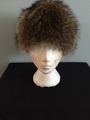 Vintage Real Silver Fox Fur Hat Kate's Boutique Canada