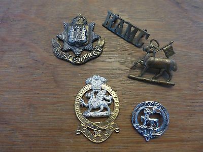 Mixed Lot Of Vintage Military Badges With Faults