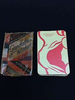 Vintage Waddington Card Game Grandfathers Whiskers