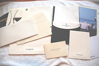 Hotel Stationery - St Regis & Four Seasons Atlanta, Peninsula New York Envelopes