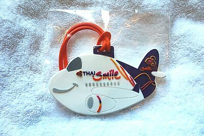 Thai Airlines Smile Baggage Luggage Name Address Label Tag New Plastic
