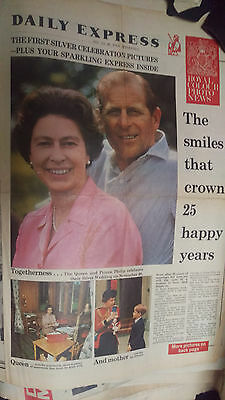 old newspapers and special reports of Queen's Silver Jubilee 1977