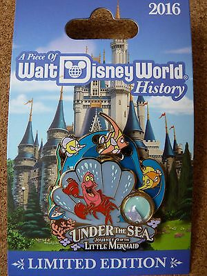 Disney  WDW Piece of History pin* LITTLE MERMAID Under the Sea LE pin