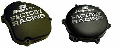 New Boyesen Black Factory Racing Engine Clutch + Ignition Covers + Yamaha Yz 125