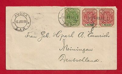 South Africa Germany 1900 Cover Avoca Meiningen.
