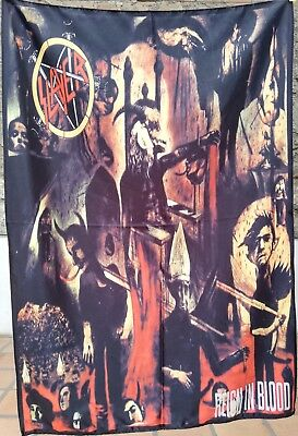 SLAYER Reign in Blood FLAG CLOTH POSTER WALL TAPESTRY BANNER CD Thrash Metal