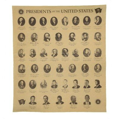 Replica Presidents of the US Antiqued Parchment Paper historical document poster