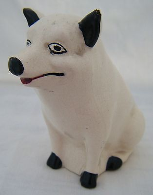 A Rare Antique Mid C19th Century Staffordshire or Scottish Pottery Pig Figure!