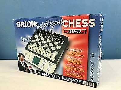 Orion Intelligent Electronic Chess Set Millennium  8 Games in 1 - Free P&P