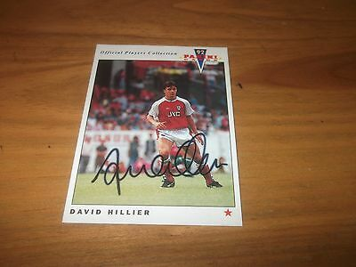 Panini 92 David Hillier  Arsenal Signed Card