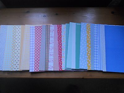 job lot, printed craft paper A4.  approx 150 sheets. 30 differerent designs.