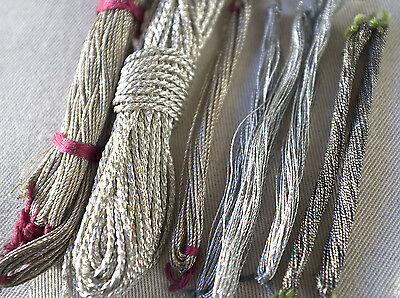 Bundle antique/vintage silver antique embroidery  threads  - Ladies Work Society