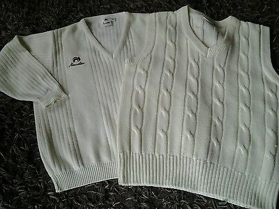 2 bowling jumpers in good condition. 1 long sleeve  and 1 sleeveless.