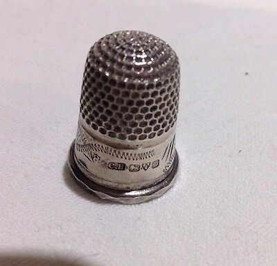 Antique Silver Charles Horner Thimble Size 8 Chester