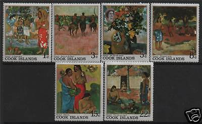 Cook Is 1967 Gauguin Paintings SG 249/54 MNH