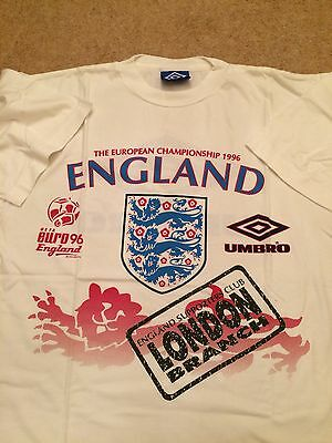 Mens England European Champion 1996 T Shirt Size L