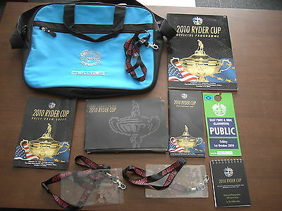 2010 Ryder Cup Celtic Manor Laptop Bag programme lanyards and guides