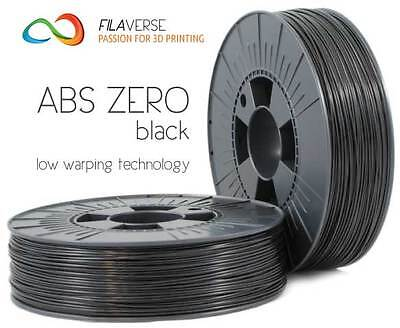 FILAVERSE ABS Zero Nero - Next Generation ABS low warping filament 1.75mm 1 Kg