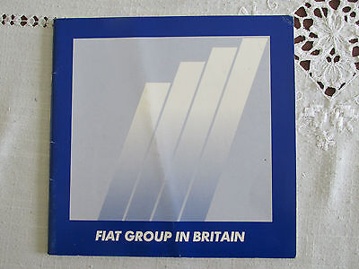 1988 Fiat Group In Britain Brochure