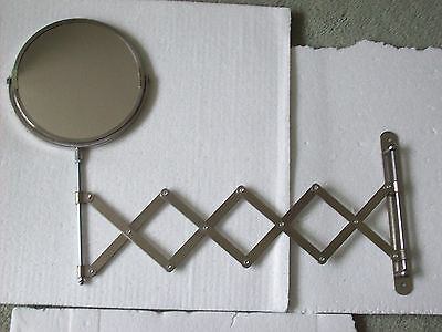 Shaving/Make-up Mirror Chrome Plated (IKEA) Wall Mounted Extending Round Magnify