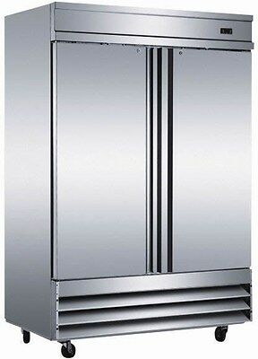 Two 2 Door Commercial Stainless Reach In Refrigerator CFD-2RR Reach-In Cooler