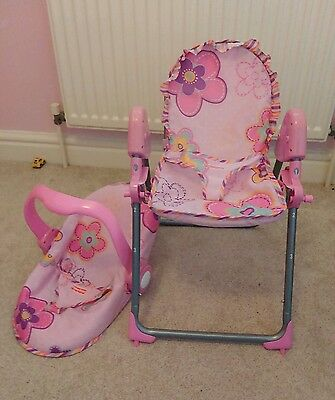 Fisher price high chair and carry seat