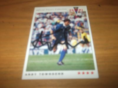 Panini 92 Andy Townsend Chelsea  Signed Card