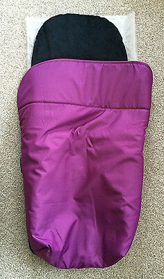 NEW ALASKA Footmuff Cosey Toes for pushchair or pram in Purple