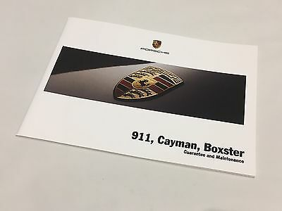 Porsche 997 Carrera Turbo Cayman Boxster 2008 Service Guarantee Maintenance Book