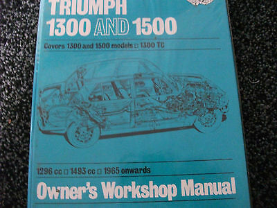 HAYNES Triumph 1300 and 1500 Owners Workshop Manual 1965+ FREE P&P
