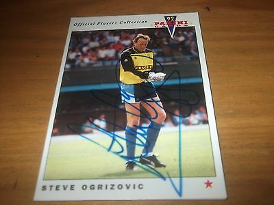 Panini 92  Steve Ogrizovic Coventry City  Signed Card