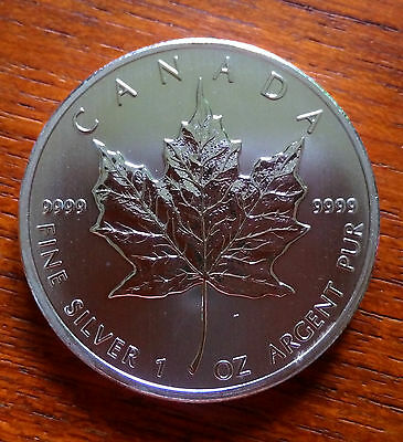 "1oz SILVER MAPLE LEAF COINS x4 - 2013 - With Capsule ""BU"""