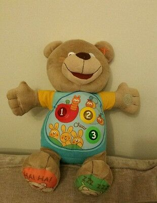 Chicco Count With Me Bilingual Teddy   French & English