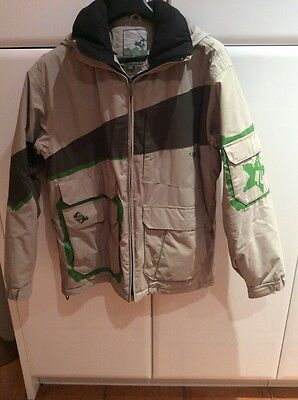 Quiksilver mens medium size ski skiing jacket